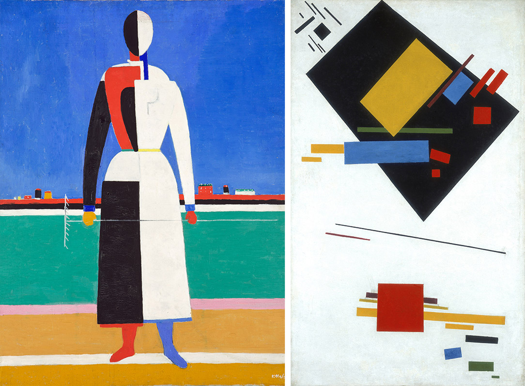 Kazimir Malevich Woman with Rake and supremacy