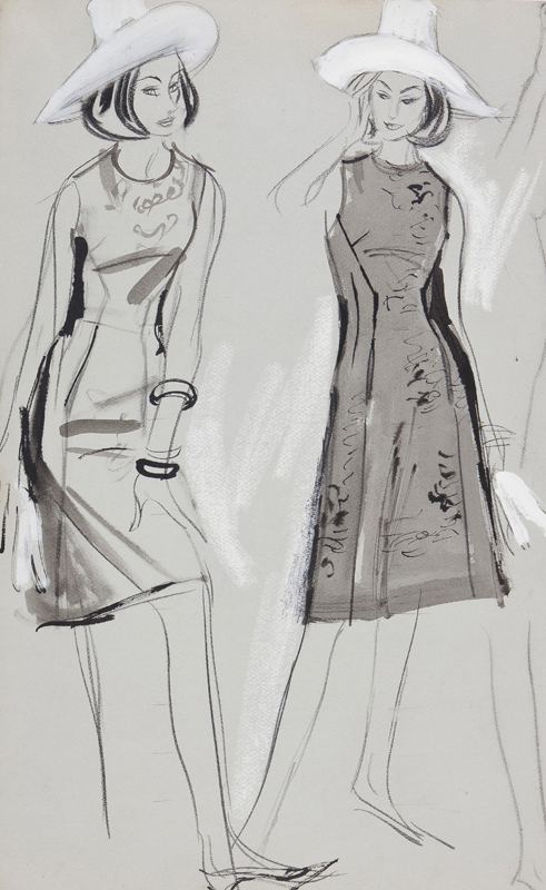 Two Studies of a Day Dress