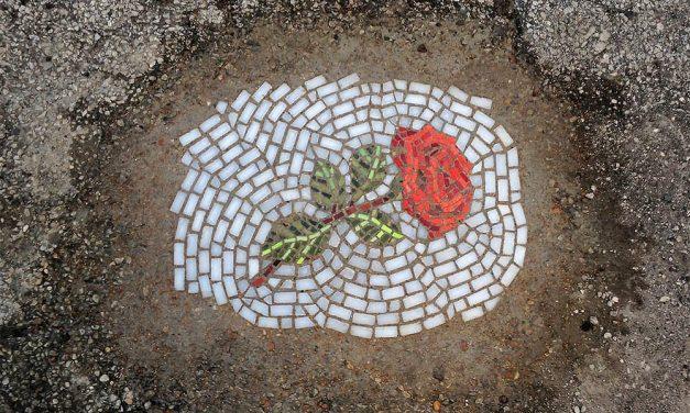 Guerrilla pothole art