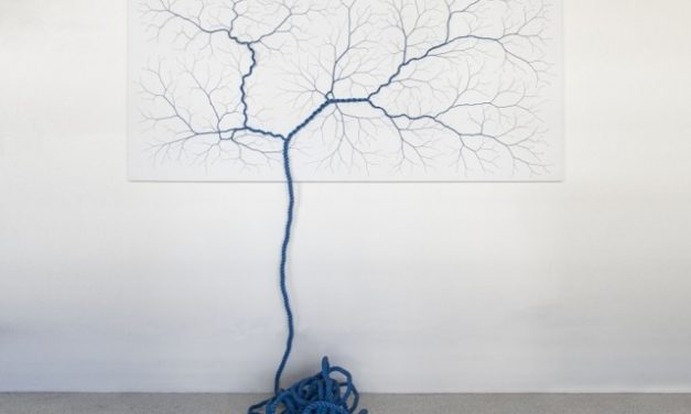 Organic rope sculptures by Mello + Landini