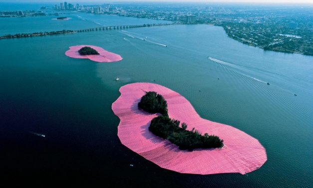 Fantasy Pink Islands Installation in Miami