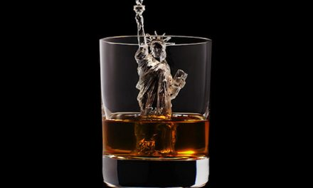 3D on Ice Cubes in Whiskey