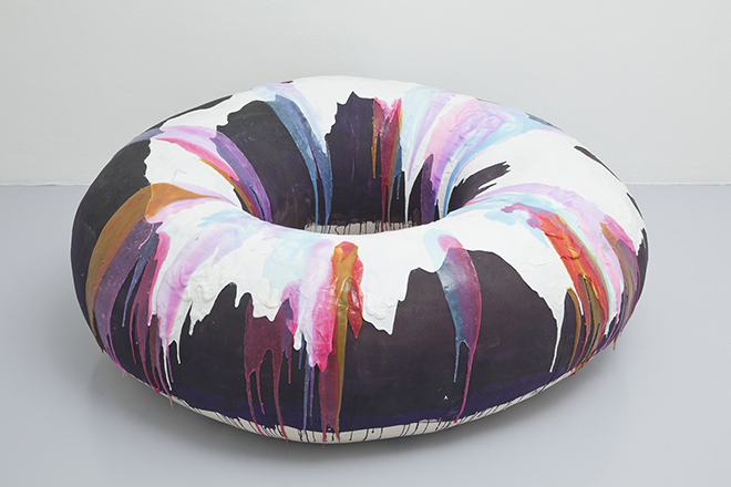 Gio Marconi Nathalie Djuberg Donut with Purple and White Glaze