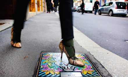 Fashion in Milan even takes over Manhole Covers