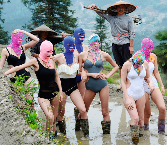 The facekini, from 'weird photo of the day' to fashion trend?
