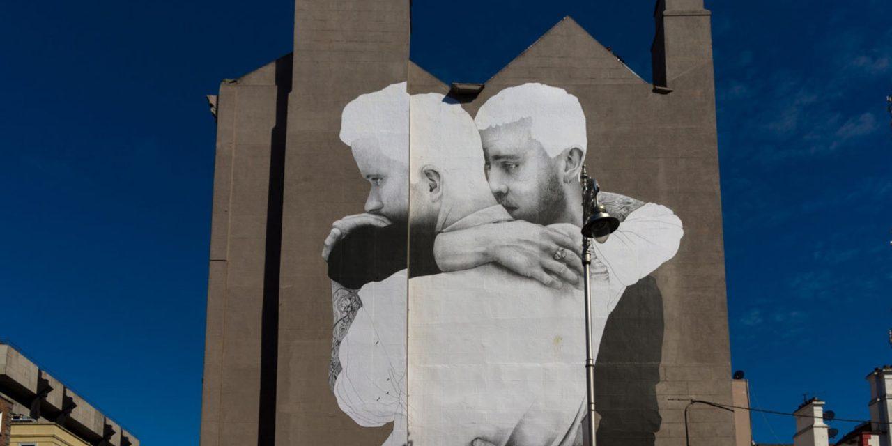 Joe Caslin's quiet, emotional giant murals