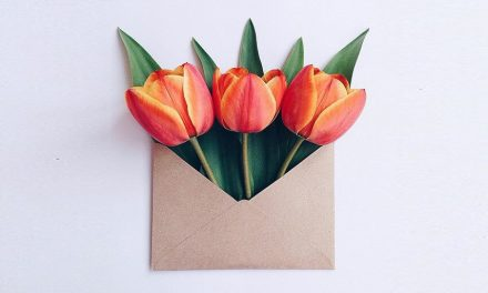 Flowers Bouquets in Vintage Envelopes by Anna Remarchuk